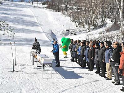 野沢温泉スキー場 今季の安全を祈願