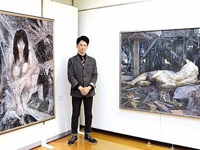 洋画に込められた再生の願い 伊藤裕貴さん個展、越前市
