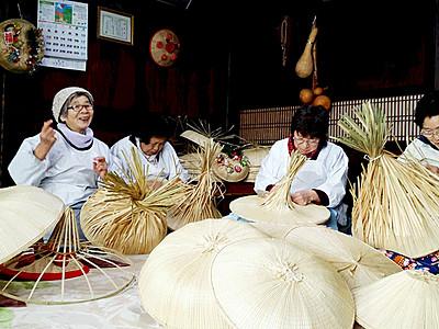 「福岡の菅笠」国の伝統的工芸品に