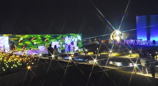 2、3日にイベントが開かれるゆりの里公園のイルミネーション=福井県坂井市春江町石塚