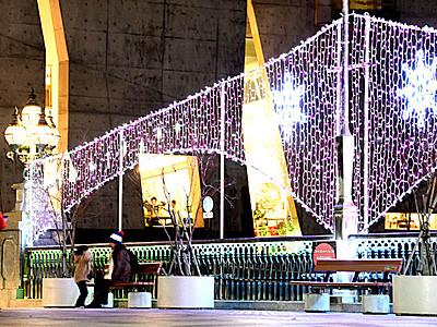 松本・千歳橋と大名町通りでイルミネーション点灯
