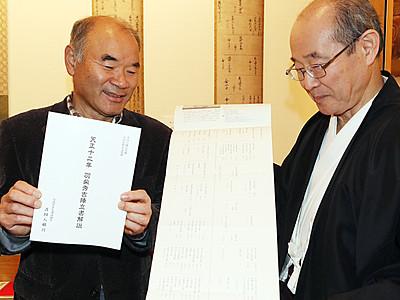 秀吉の「陣立書」解説書出来 小矢部・埴生八幡宮