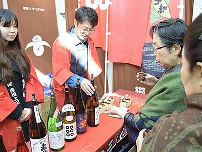6酒蔵 上田駅で初の飲み比べイベント