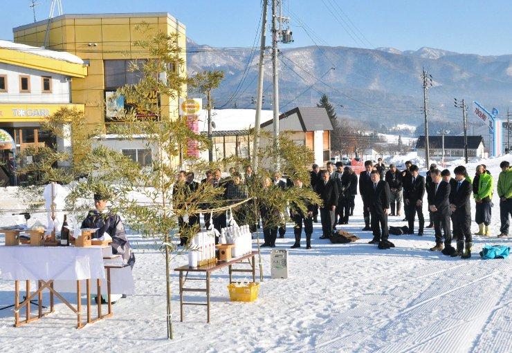 戸狩温泉スキー場で開いた安全祈願祭