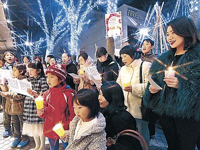 聖夜に賛美歌、清らか 金沢教会がクリスマスキャロリング