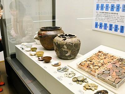 遺物展示の舞台裏お見せします 一乗谷朝倉氏遺跡資料館