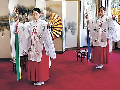 神楽舞練習納め 小松・安宅住吉神社