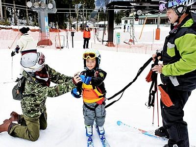 新保ファミリースキー場が営業開始 福井県池田町