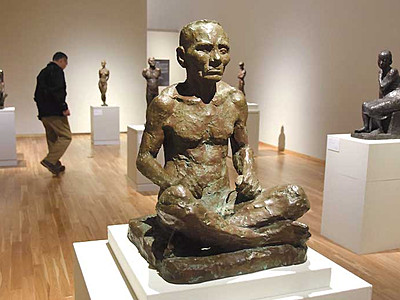 石井鶴三、彫刻に光 上田ゆかりの芸術家、企画展