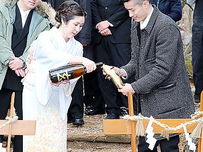 お神酒飲ませコイ放流 庄川で伝統の奇祭