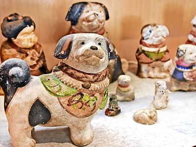 「戌」の土人形かわいい! 江戸末~明治期12点、大野市