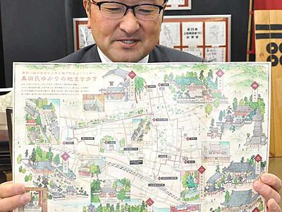 幸村像起点に街なか楽しむ寺巡り 上田の観光協会がマップ