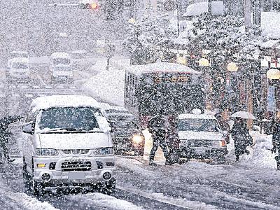 やまない雪、県内混乱続く