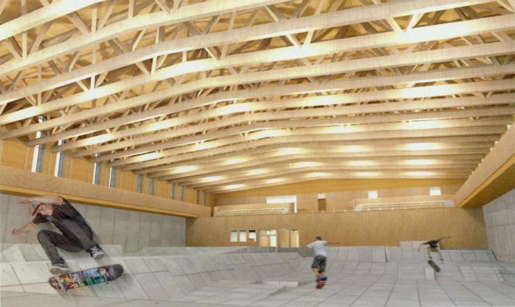 1月着工する予定の「村上市スケートパーク(仮称)」の完成予定図