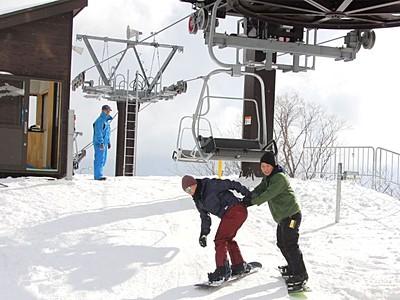 佐渡市営平スキー場 大改修終えオープン