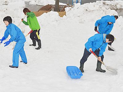 雪まつり遊びに来て 21日に魚津桃山公園