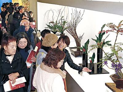 咲き競う美、にぎわい最高潮 北國花展、21日最終日 めいてつ・エムザ