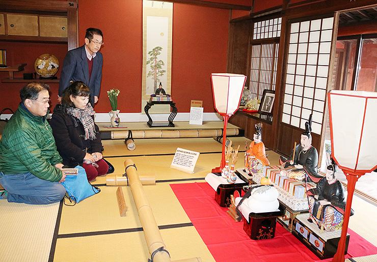 国重要文化財の菅野家に飾られた大正初期の武生天神