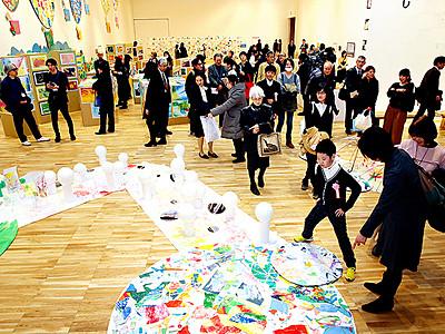 子どもたちの感性光る 富山県美術館「START」展