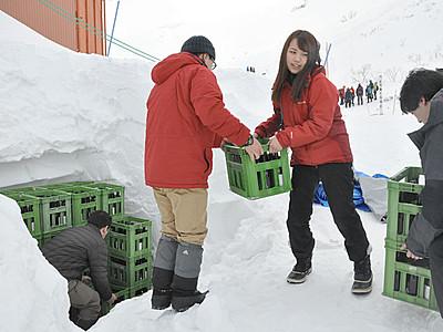 思い込め 中ア千畳敷で日本酒を雪中熟成