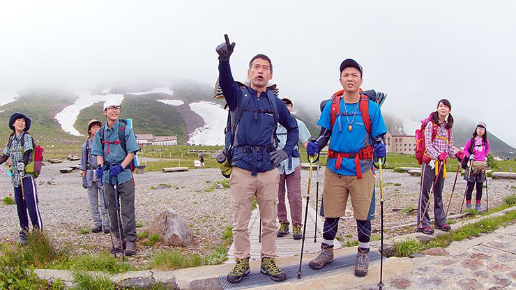 国際科学映像祭ドームフェスタでの上映が決まった映画「剣の山」の1シーン(黒部市/ライブ提供)