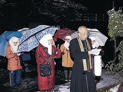 湯のまちに響く御詠歌 山中温泉で寒修行
