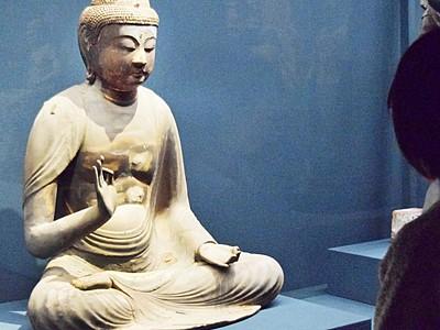 国分寺の「阿弥陀如来坐像」公開 福井県立若狭歴史博物館
