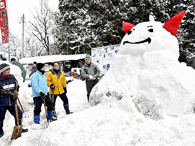 雪のはぴりゅう完成 勝山、11日まつり