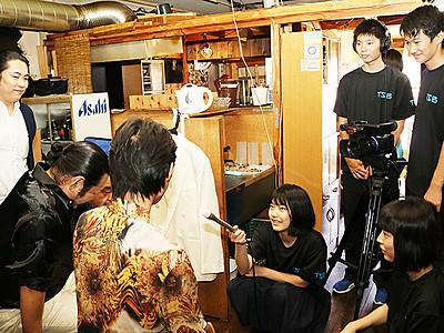 メーキング映像製作 映画「まちむすび」で富山高放送部