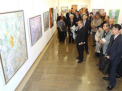 飛越交流展10回の節目祝う 3日から富山市美術作家連合会展