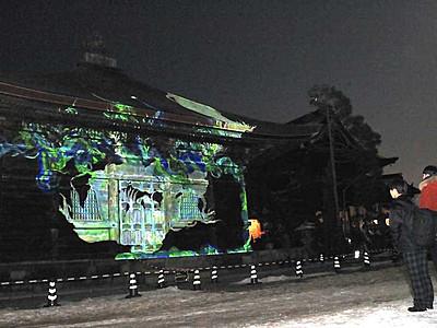 善光寺経蔵彩る映像 灯明まつりの11日、長野高専生が計画