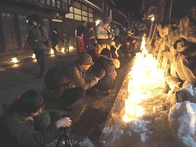 奈良井宿、アイスキャンドル祭り