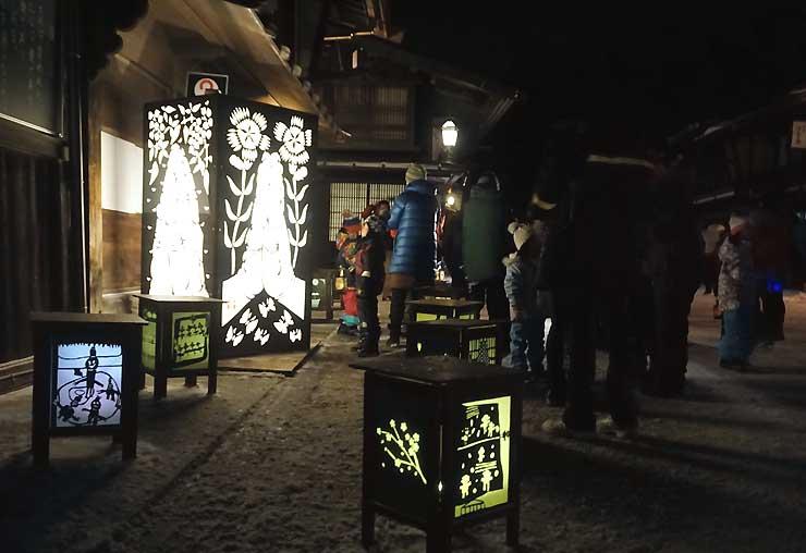 奈良井宿で始まった灯明まつり