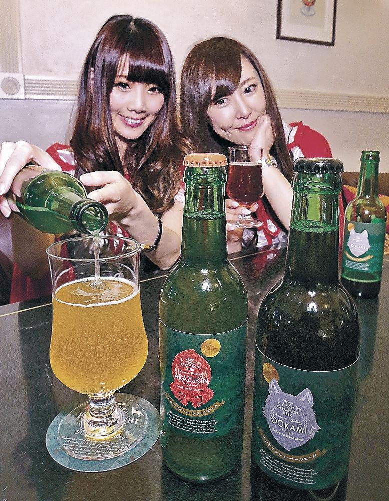 完成した瓶ビール=金沢市片町1丁目