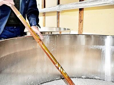 小浜唯一の地酒「わかさ」仕込み本格化 杜氏、作業に精