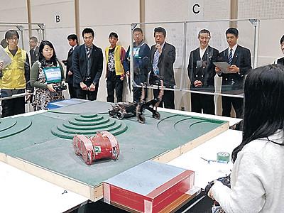 「千枚田」のリングロボ熱戦 56チーム、輪島で競技大会