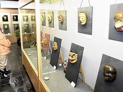 創作面公募展の入賞作品を展示 池田の能面美術館