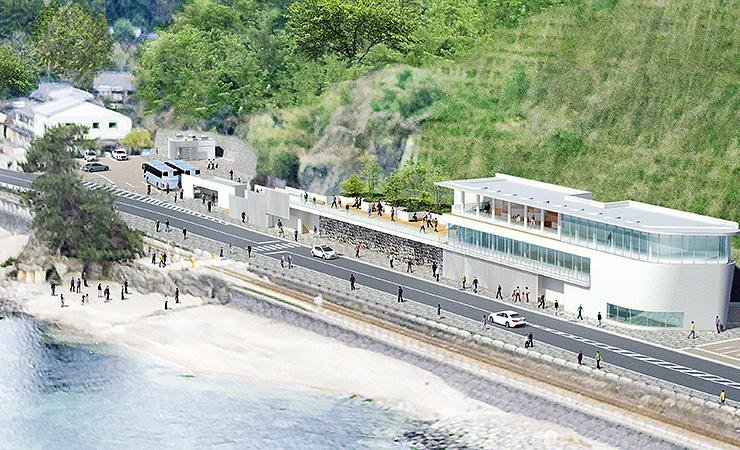 4月25日にオープンする道の駅雨晴のイメージ図