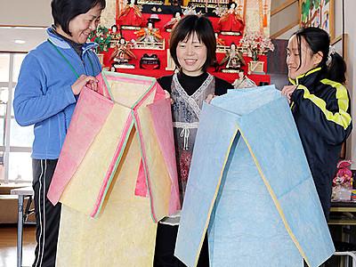 和紙でおひなさま装束いかが 立山町で来月撮影会