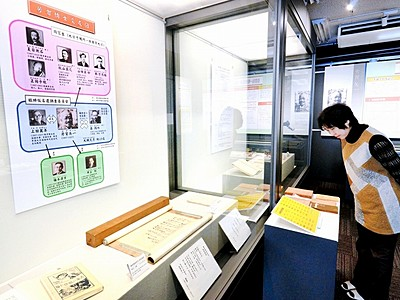 仮名遣い論争、芳賀矢一に焦点 福井県教育博物館で展示