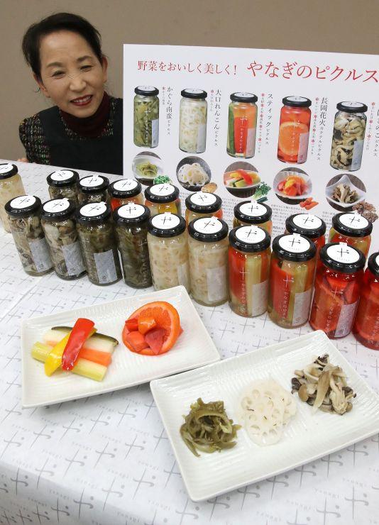 長岡産の野菜をふんだんに使用した柳醸造のピクルス=JR長岡駅駅ビルの「CoCoLo長岡」