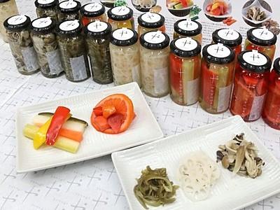 地元野菜華やかピクルスに 長岡・三島の醸造会社