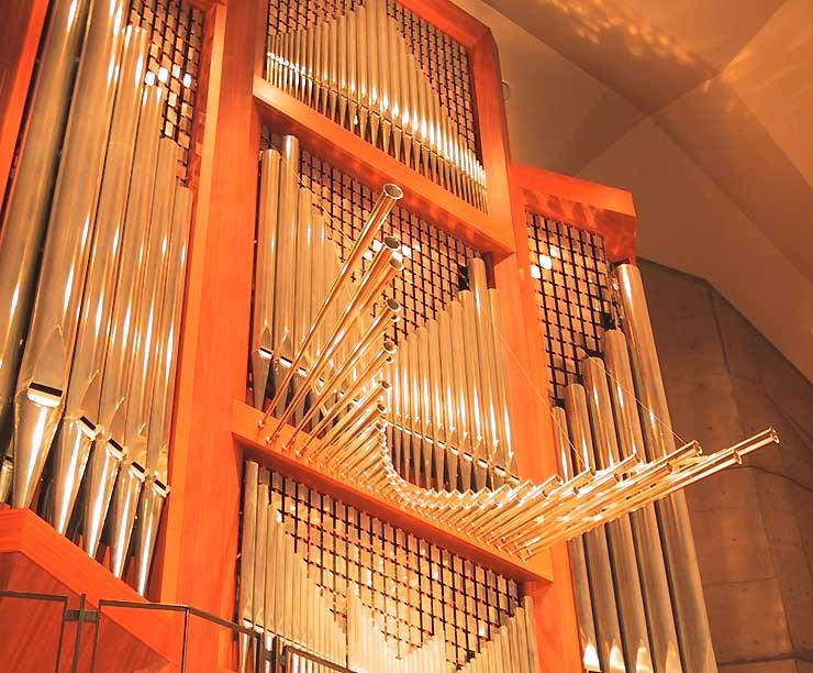 松本市音楽文化ホールに設置されたパイプオルガン