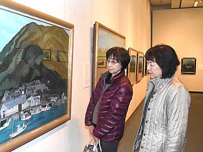 諏訪市原田泰治美術館20周年記念展 童謡や唱歌テーマ