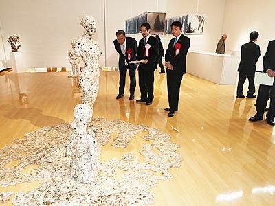 気鋭3人独自の表現 アートハウスおやべで現代造形展入賞作家展
