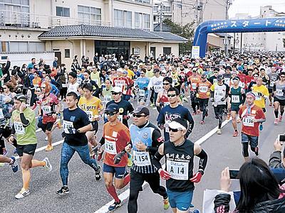 6461人が能登路を力走 和倉万葉の里マラソン