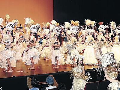 情熱のダンス 小松でフラ&タヒチ公演