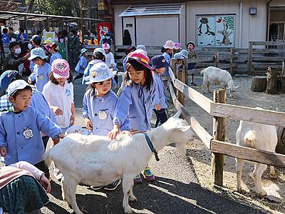春の開園で園児招待 富山市ファミリーパーク