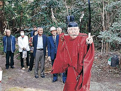 珠洲の須須神社で的打ち神事