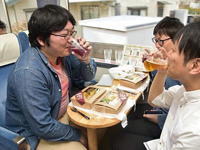 長野電鉄で県内の地ビール楽しむ特別列車